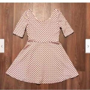City Triangle Pink with Black Polka Dot Dress